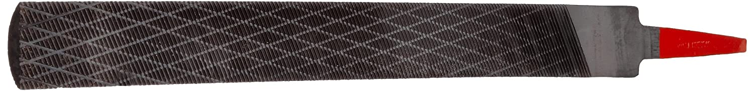 """Simonds Hand File, American Pattern, Chip Breaking, Half-Round, Black Oxide Coating, Coarse, 10"""" Length, 15/16"""" Width, 9/32"""" Thickness"""