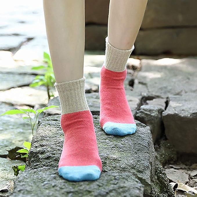 Eroilor - Calcetines térmicos de Lana Gruesa para Mujer en 5 Pares [Reino Unido 4-7]: Amazon.es: Deportes y aire libre