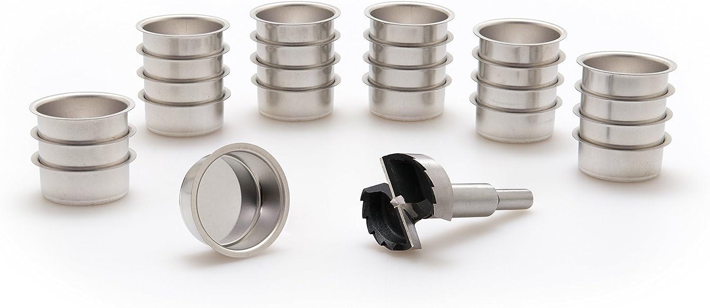 A.J Modell:10 Stck vermessingt Metallwaren GmbH Teelicht T/ülle 40 mm und EIN Forstnerbohrer verzahnt 1 5//8 Wwe 41,5 mm