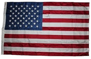 USA Fahne mit 50 gestickte Sterne und genhte Streifen