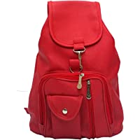 Bizarre Vogue Pu Stylish College Bags Backpacks For Women & Girls (Red, Bv895)