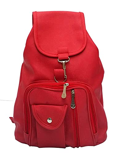 04404bef88964c Bizanne Fashion Women's Vogue PU College Bags Backpacks (Red ...