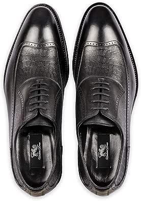 Umberto Bresci Long Wing brogues Oxford, Black shoe for men