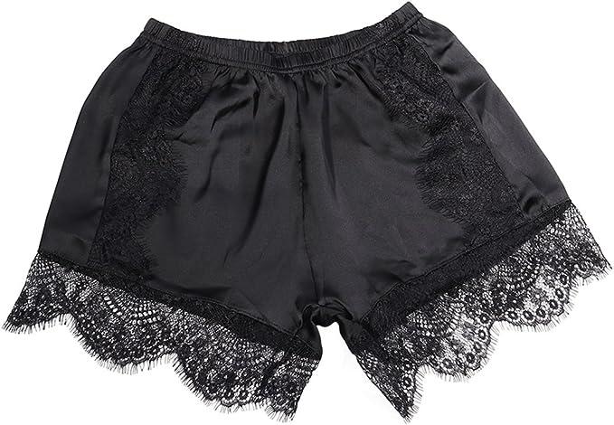 BESTOYARD Pantalones Cortos de Encaje para Mujer y Debajo de la ...