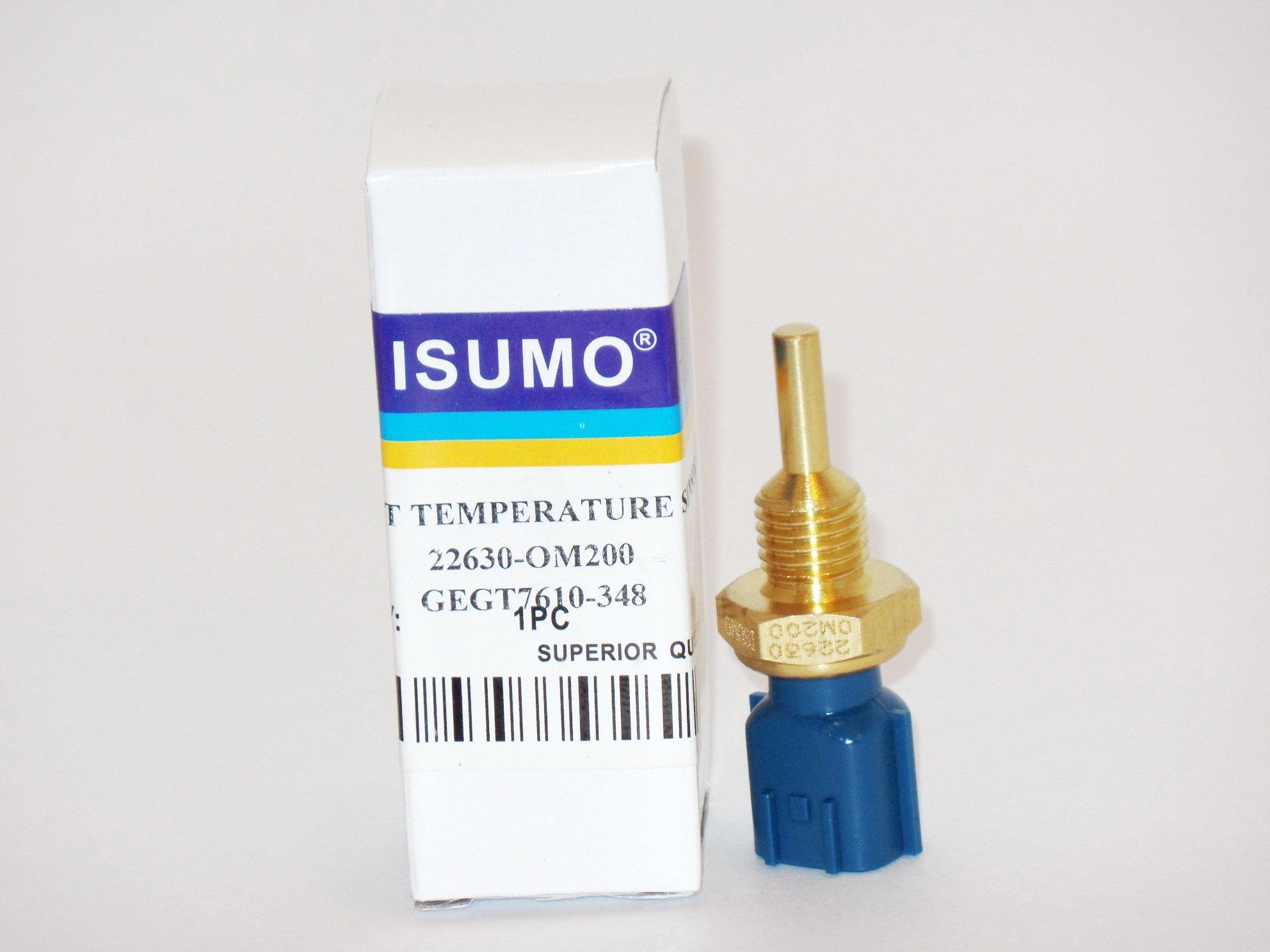 Coolant Temperature Sensor 22630-0M200 - TS10064 - 5S1522 - SU4072 - TX78 Fits:Infiniti FX35 (07-03) Infiniti FX45 (08-03) Infiniti FX50 (10) Infiniti G35 (06-03) Infiniti I30 (01-96) Infiniti I35 (04-02) Infiniti J30 (97-96) Infiniti M35 (08-06) Infiniti