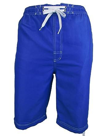 a921dc2a2780a Location Mens Long 3/4 Length Knee Short Summer Woven OTK Swim Shorts  Swimming: Amazon.co.uk: Clothing