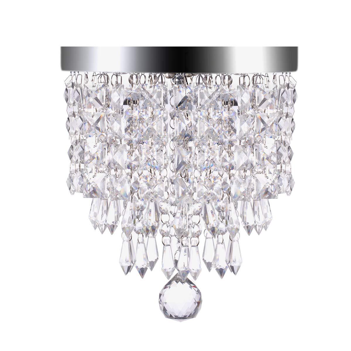 LOHAS Crystal Chandelier Lighting, 100 Watt Equivalent, 15W Multicolor Ceiling Lamp, Smart Wifi Light Bulb, 8.66'' Chandeliers Lighting Fixture, 1380LM Modern Pedant Light, Works with Alexa, 1 Pack