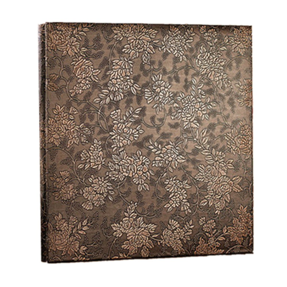 Leather Cover Photo Album Perfect as Wedding Guest Book (Copper Peony) DUOLAIMENG wj-xc-tonmudan