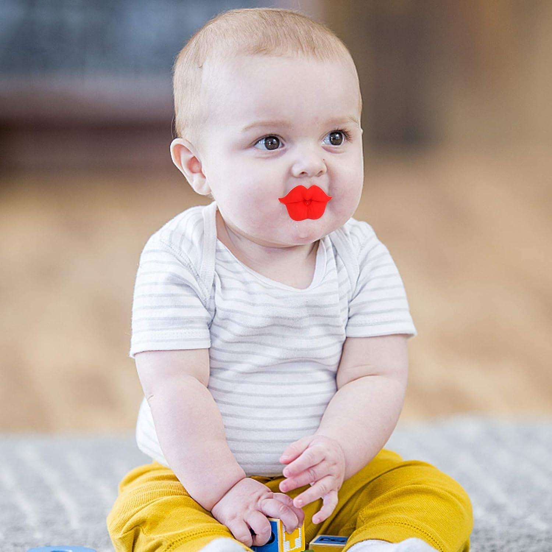 suave silicona maniqu/í chupete divertido pez/ón chupete boca divertida mordedor juguete de ba/ño para beb/és Beb/é chupete #1