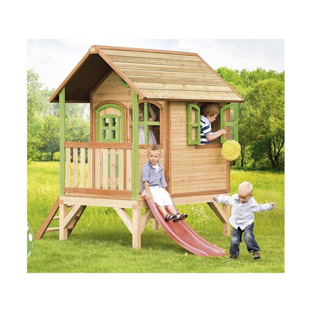 Axi - Casa de juegos de madera, modelo Tom, juegos de exterior / jardín para niños: Amazon.es: Bricolaje y herramientas