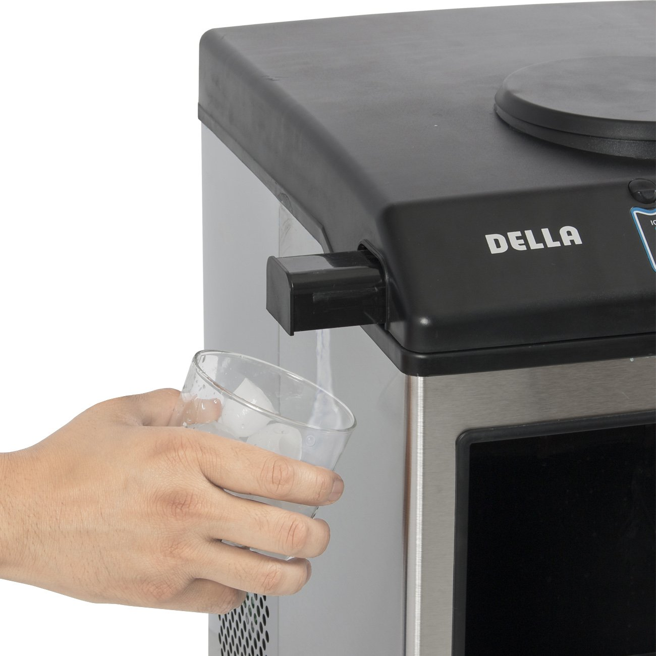 Amazon.com: Della Stainless Steel Water Dispenser W/ Built In Ice Maker  Machine Counter Portable, 40 Pound: Appliances