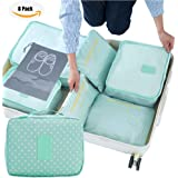 7 Set Packing Cubes Luggage Organizers Clothes Storage- 3 Mesh Bags+ 3 Pouches+ 1 Toiletry Bag