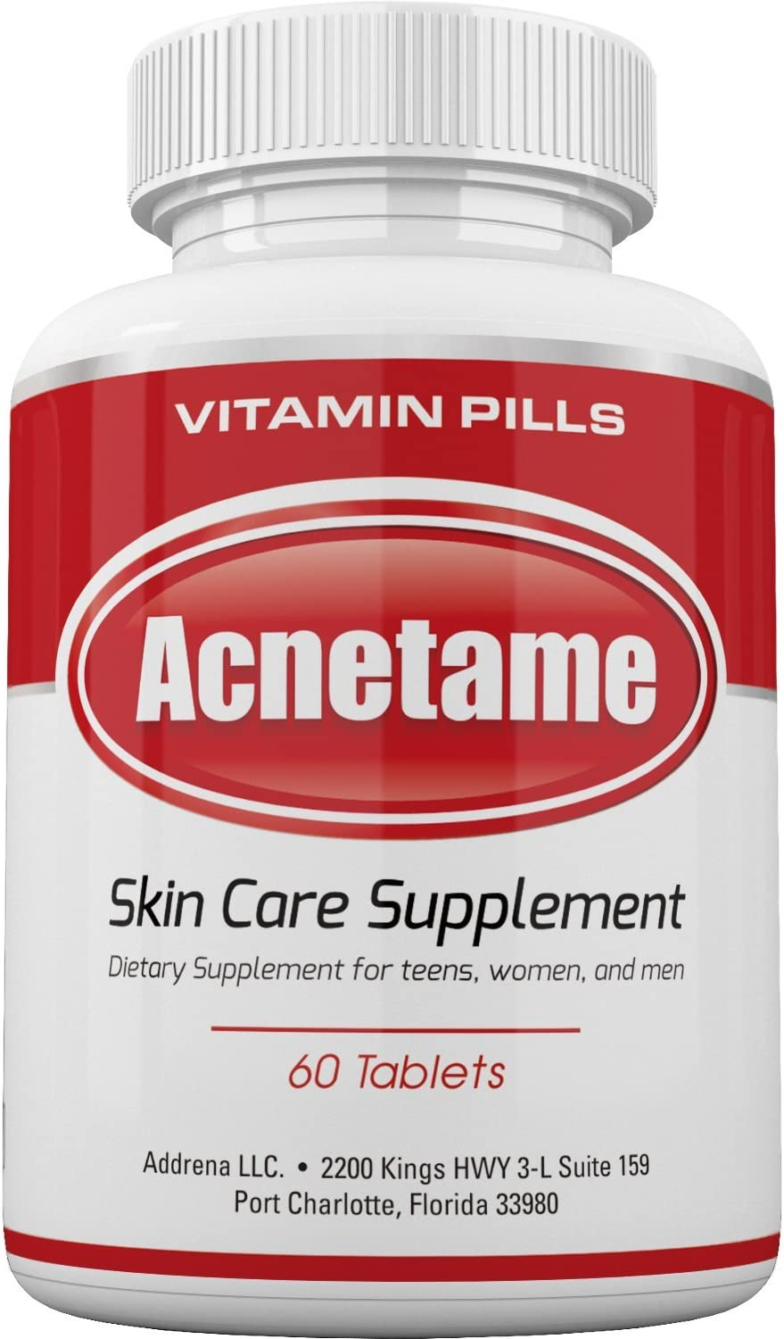 Amazon Com Acnetame Vitamin Supplements For Acne Treatment 60 Natural Pills Health Personal Care