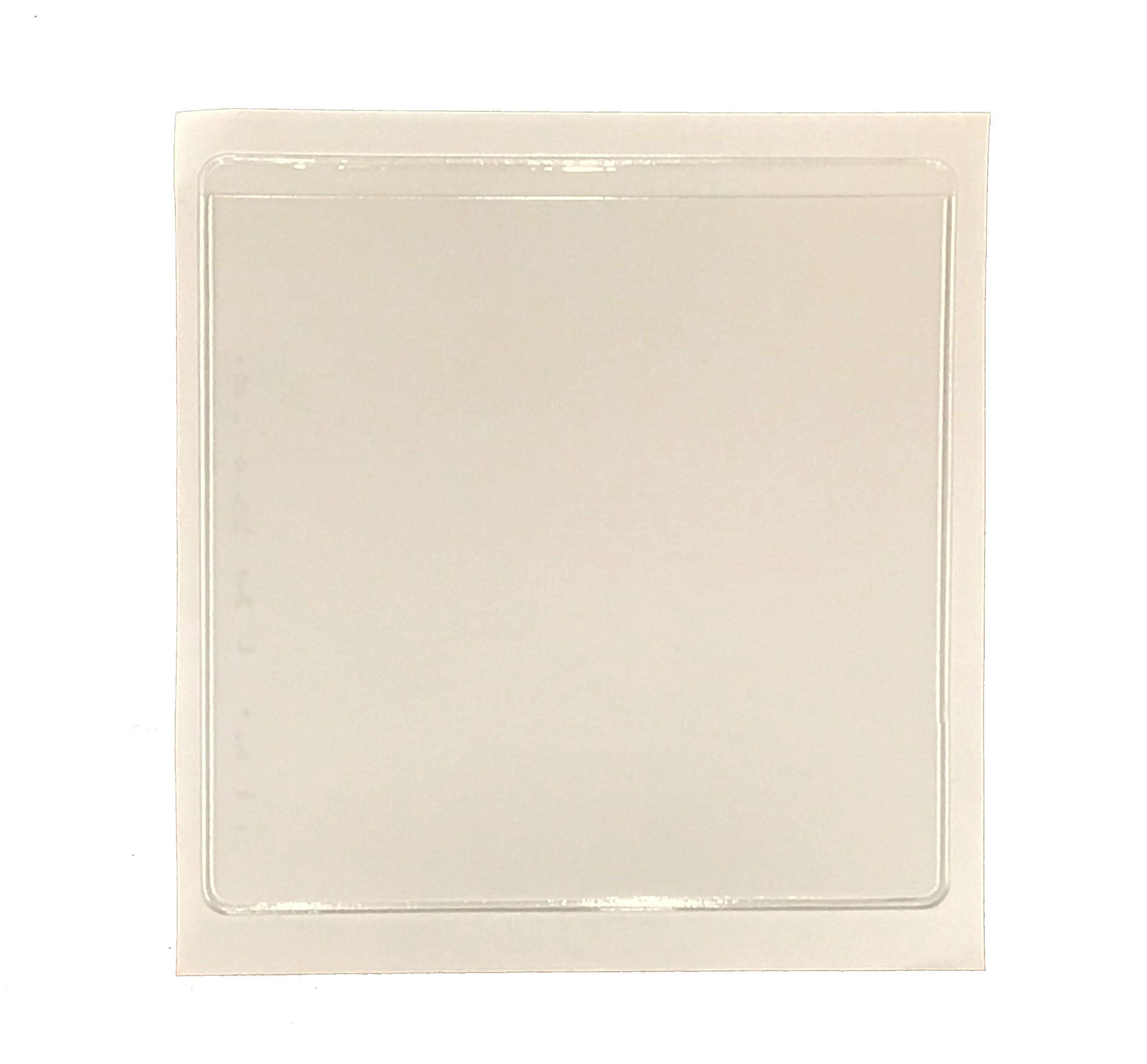 Adhesive Square Label Pockets Holder 3.2 Mil Heavy Duty (3.5'' by 3.5'') Set of 30