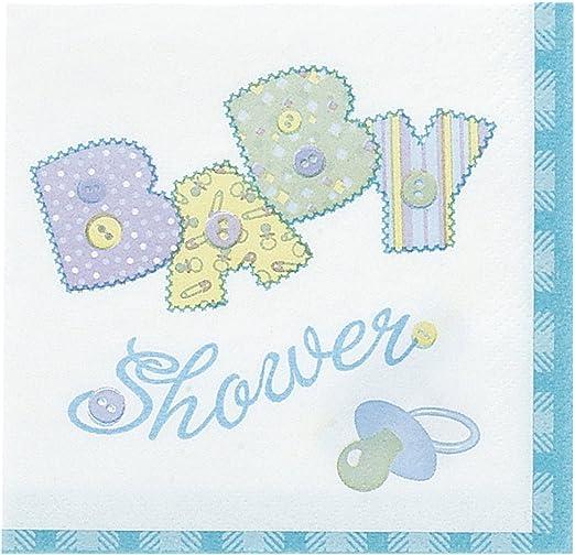 4 Single paper decoupage napkins blue bow blue ornaments -564 New baby boy