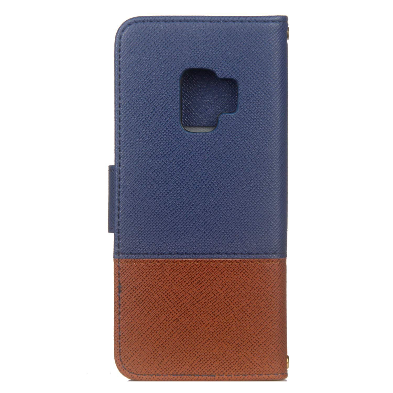 Felfy Kompatibel mit Galaxy S9 H/ülle Premium PU Leder Tasche Magnet Flip Case Creative Bunt Lederh/ülle im Bookstyle Handyh/ülle Brieftasche Cover mit Kartenf/ächer Standfunktion Braun