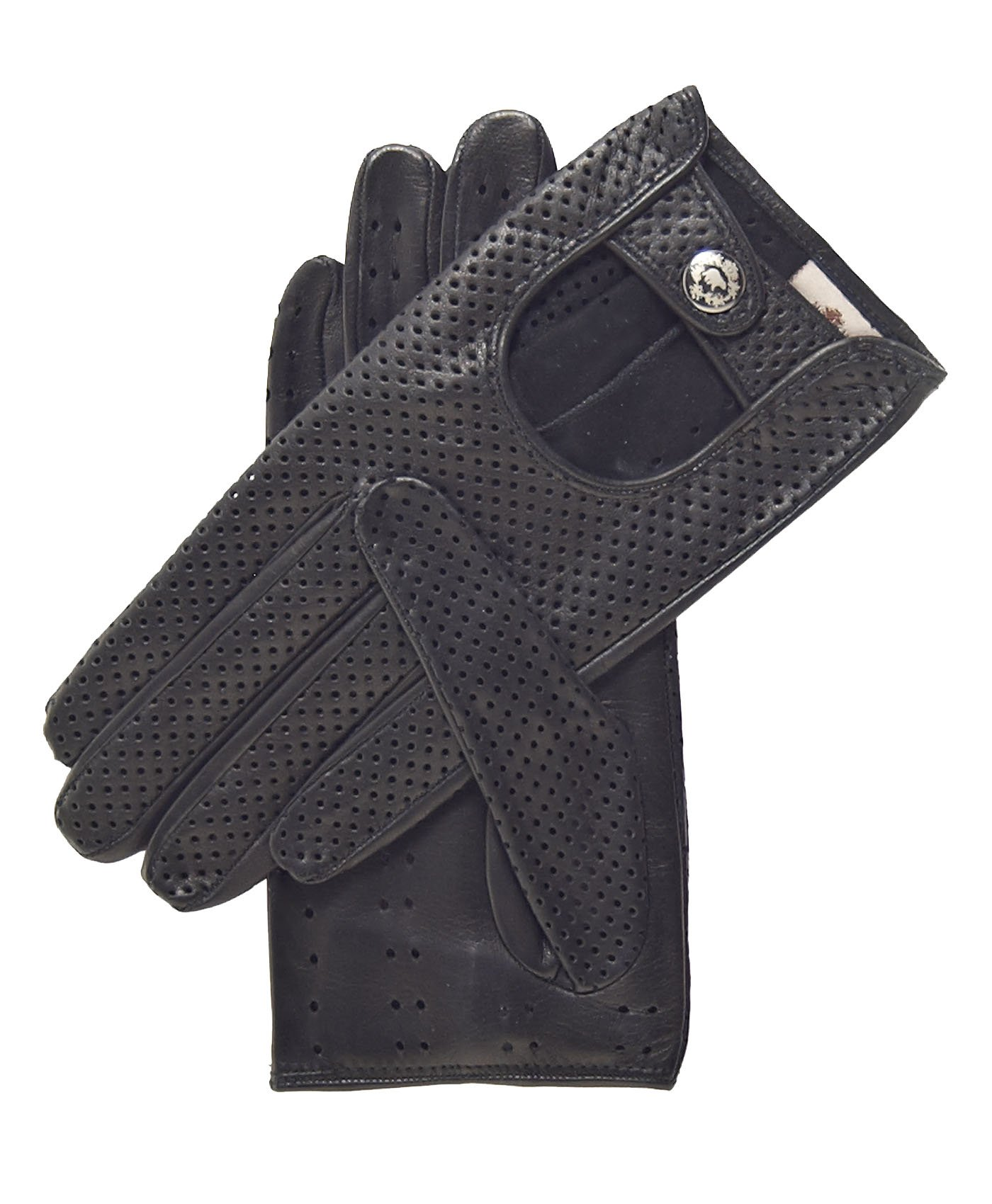 Fratelli Orsini Women's Ventilated Leather Driving Gloves Size 7 Color Black