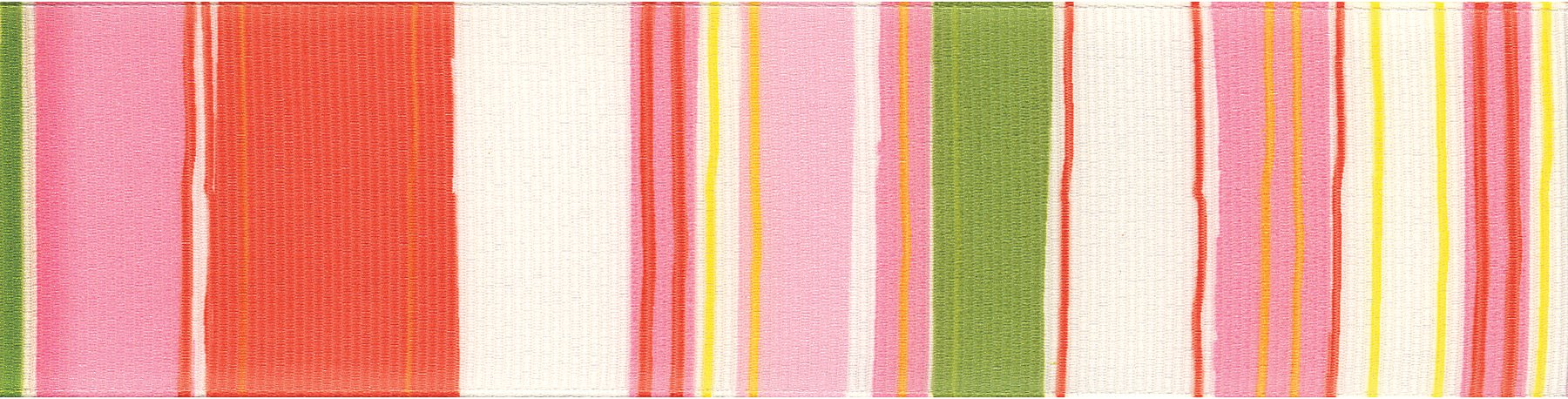 Offray Retro Stripe Craft Ribbon, 1 1/2-Inch x 9-Feet, Pink & Green