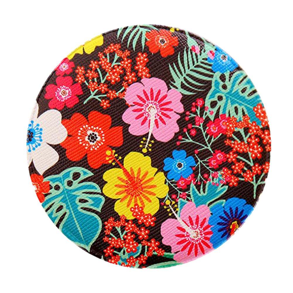Wicemoon Portable rond en forme de maquillage Outil Mini Petite Floral Miroir mignon Creative Femme