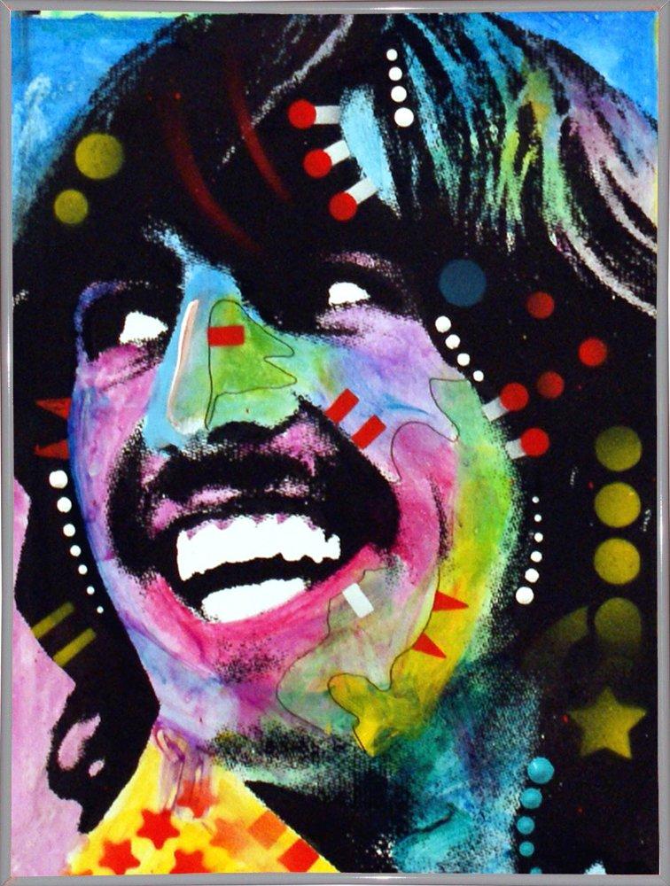 Frame USA George Harrison Framed 5x3.75 by Dean Russo-DEARUS145497 Print 5x3.75 White Metal