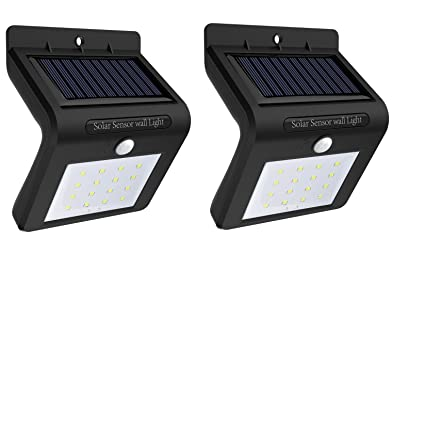 NatureGlow seguridad solar de luz LED 16 para exterior con sensor de movimiento, a prueba
