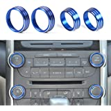 ZINNI-Interior Mouldings - car-styling 4PCS Aluminum Alloy Air-Conditioning Audio Knobs Switch Cover for for Chevrolet…