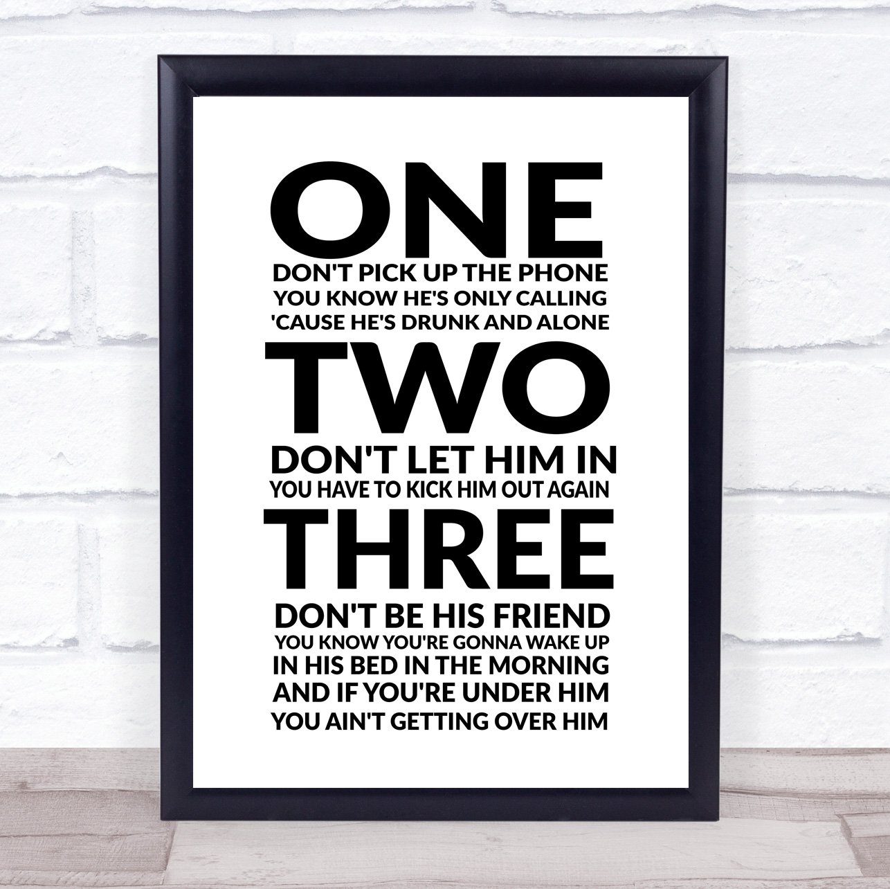 Amazon.com : New Rules Song Lyric Quote Print : Office Products