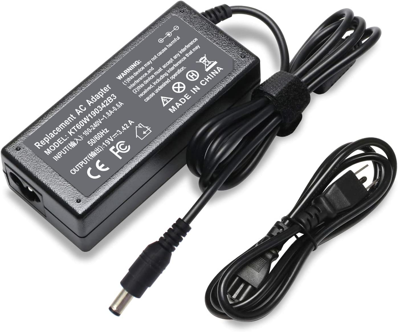 Keepow 19V 3.42A 65W Laptop Charger Compatible with Toshiba Satellite C55 C55D C55T C655 C675 C850 C855D C875 L645 L655D L675 L755 L855 L875 P745 P855 P875 S855, PA3714U-1ACA Power Supply Cord