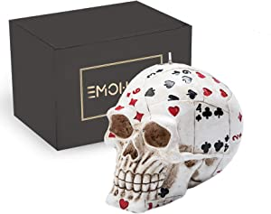 EMOHOME Poker Skull Candle for Casino Party Decorations, Halloween, Horror,Home Décor, Birthday Party, Festival, Novelty Gifts