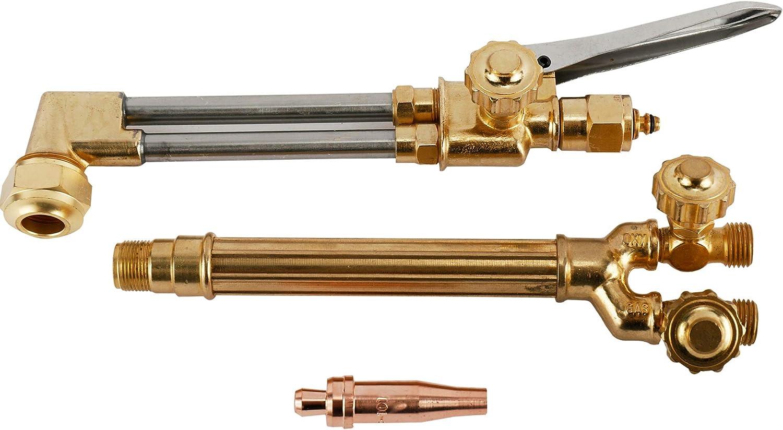 BTSHUB Heavy Duty Cutting Torch, Acetylene Oxygen Cutting Tools, Welding Cutting Torch Kit, Professional Tool Set, Victor Type CA1350 Torch, 100FC torch handle