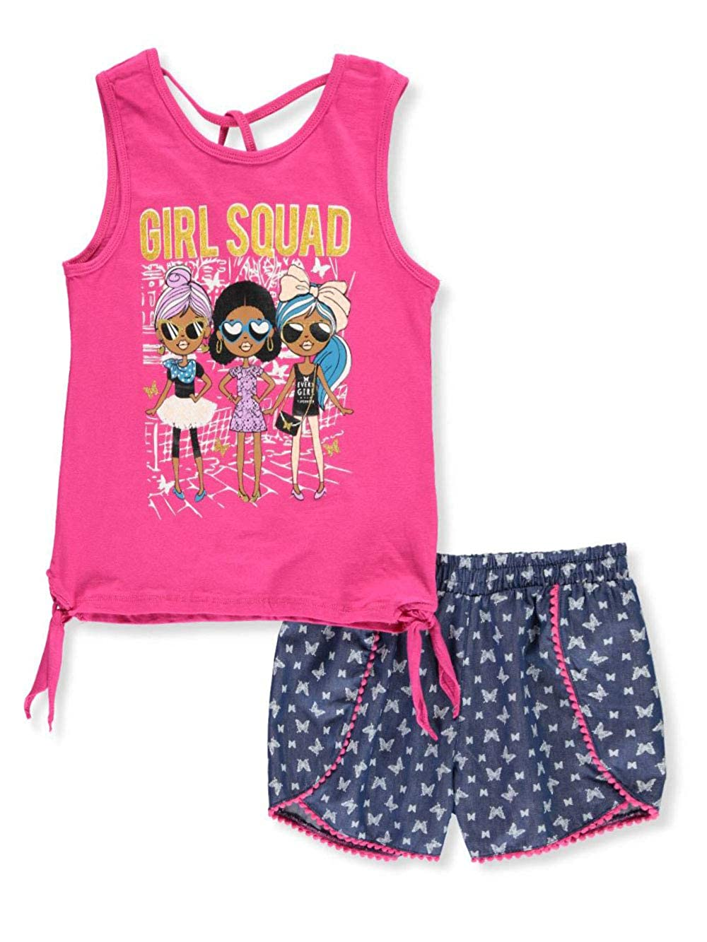 Real Love Girls 2-Piece Shorts Set Outfit