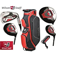 Wilson Prostaff Graphite Shafted HDX Irons & Graphite Shafted HDX Woods Super Deluxe Mens Complete Golf Club Set & Prostaff Black/Charcoal Cart Bag Mens Right Hand New For 2016 (Limited Edition, Only available from The Golf Store 4u Ltd)