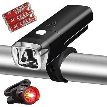 Luces LED para bicicleta, Gaxiog montaña para bicicleta, 4 modos ...