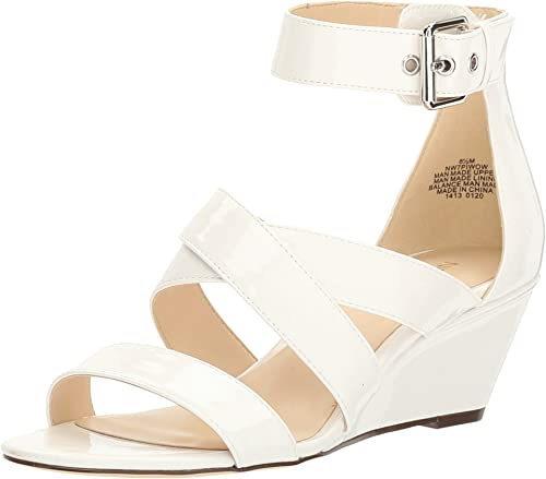 Nine West Women's Piwow Patent Wedge Sandal