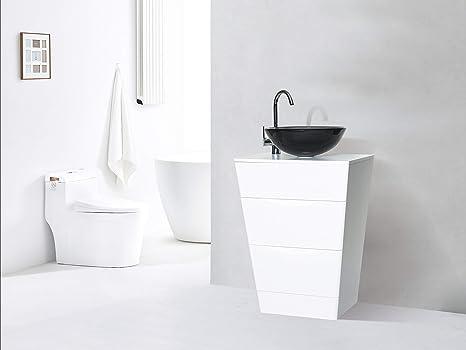 600 mm mobili da bagno mobile lavabo da appoggio e bacino bianco ...