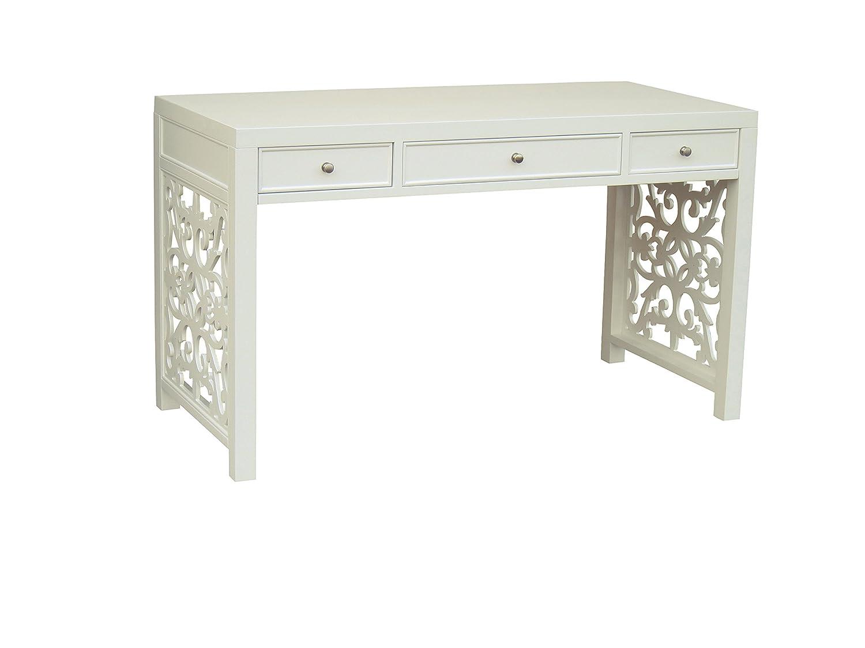 Design White Writing Desk amazon com pulaski tabitha desk 51 by 24 30 inch white kitchen dining
