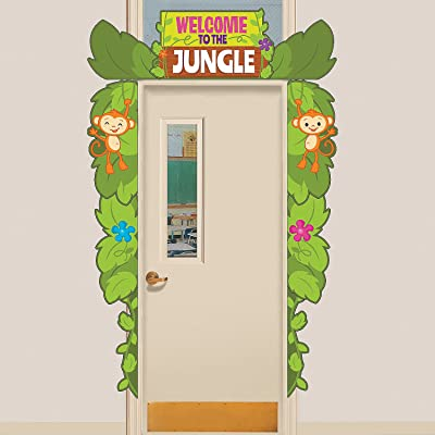 Fun Express Jungle Door Border - 9 Pieces - Educational and Learning Activities for Kids: Toys & Games
