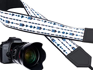 Black Durable DSLR//SLR Camera Strap with Chemical Symbols Light Weight and Well Padded Camera Strap Code 00128 Blue and White Camera Strap Chemistry Camera Strap