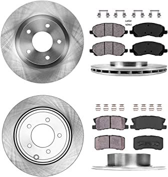 2014 Fit Chrysler 200 w//302mm Rear Rotors OE Replacement Rotors w//Ceramic Pads R