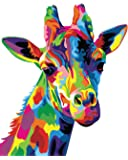Paint by Numbers-DIY Digital Canvas Oil Painting Adults Kids Paint by Number Kits Home Decorations- Colorful Giraffe 16…