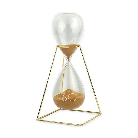 Art Deco Home - Reloj Arena Dorada Cristal 33 cm - 3338