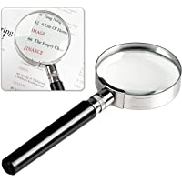 Insten 10X Handheld 10X Magnifier Magnifying Glass with Handle for Science, Reading Book, Inspection, Coins, Insects, Rocks, Map, Crossword Puzzle, Best Gifts for Seniors and Kids