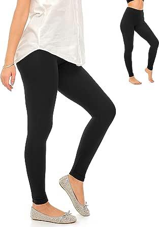 DEAR SPARKLE Dress Leggings for Women for Work High Waisted Soft Cotton Casual Skinny Leg Pants (C8)
