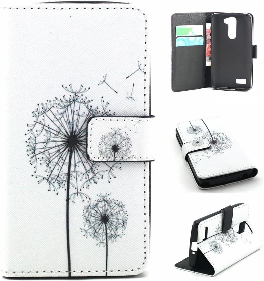 LG Bello D331 Smartphone Carcasa-PU Cuero Cartera [Book-Style ...