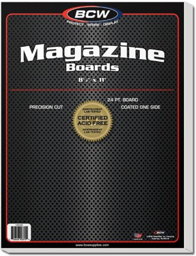 BCW Supplies - BBMAG - Magazine Size Backing Boards - White - (1000Boards) by BCW Supplies