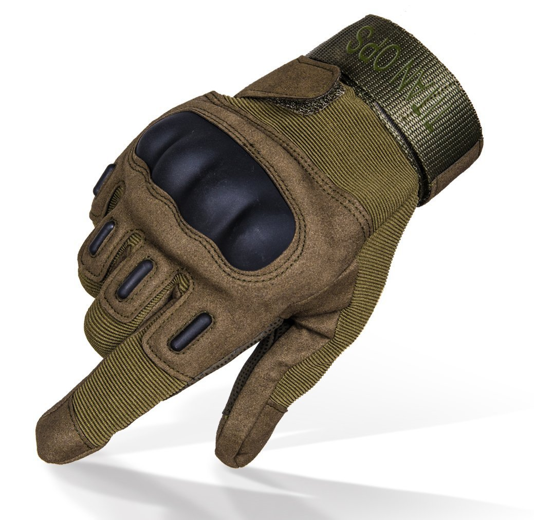 Full and half finger Hard Knuckle Tactical Training Gloves by TitanOps Gear