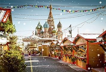 Amazoncom Ofila Christmas Backdrop Castle 5x3ft Photography