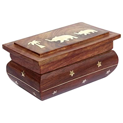 c1273ff7c5 Image Unavailable. Image not available for. Colour: ITOS365 Handmade Wooden Jewellery  Box ...