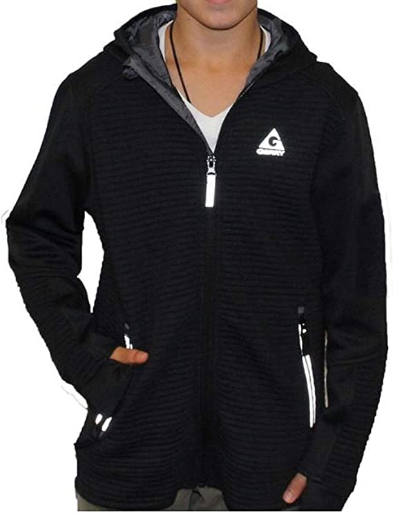 NEW! Gerry Youth Kid/'s Larkspur Full Zip Ribbed Hooded Jacket