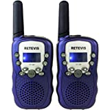 Retevis RT-388 Kids Walkie Talkies Boys 0.5W License Free 22CH FRS Toy Walkie Talkies(Blue, 2 Pack)